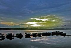Sunset at the Khao Laem Dam