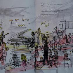 Keith Jarrett at the Blue Note (illustration)
