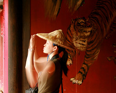 Lady with tiger  - La Belle Aventurière.