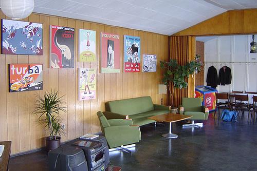 Innenansicht Ausstellung im Fruchtig A-Hoy. Oktober 2003