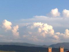 Nubes sobre la Sierra del Perdón