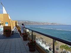Las Canteras, desde el hotel Reina Isabel. Gran Canaria. Islas. España