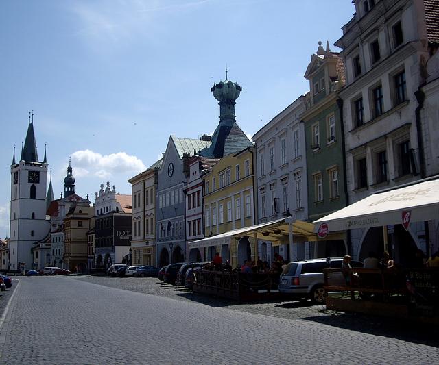 auf dem Marktplatz von Litoměřice