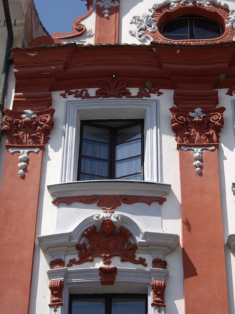 Barockes Haus am Marktplatz von Leiperitz
