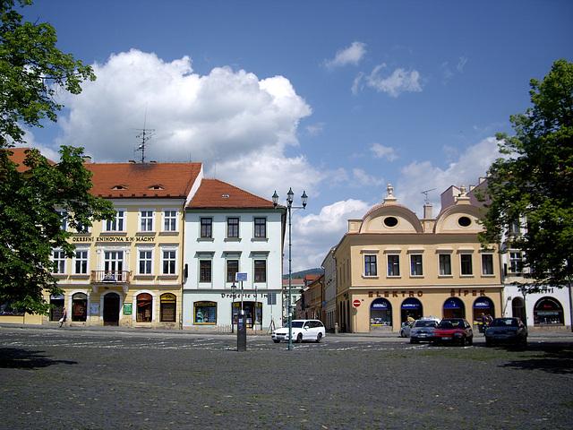 auf dem Marktplatz von Litoměřice  (Leitmeritz)