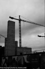 Construction, Picture 3, B&W version, Cardiff, Wales(UK), 2008