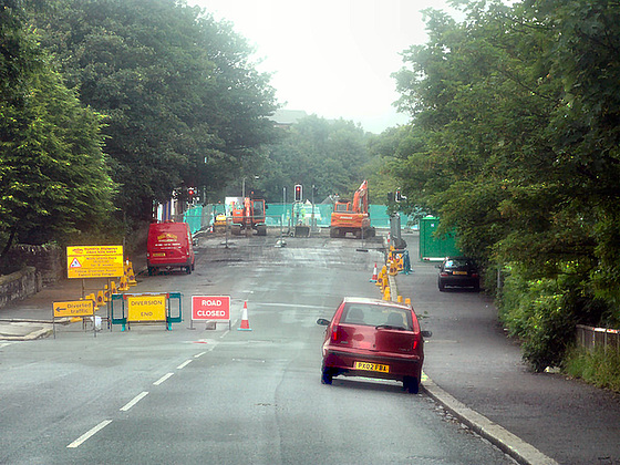 consriction road works