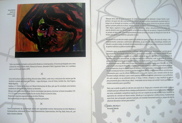 """Escape's Point"", Painting Exhibition by Manuela Horta, 2006, catalogue (2)"