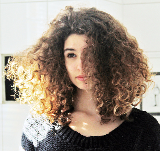 her golden hair