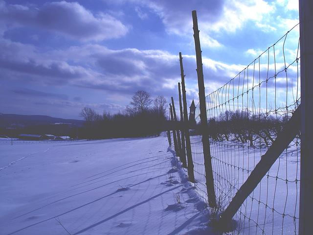 Paysage monastique d'hiver québécois - Winter landscapes