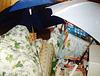 Me sleeping with umbrellas