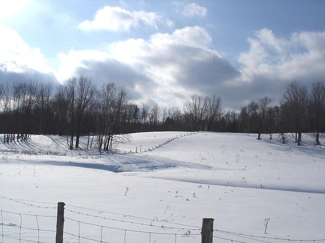 L'hiver à l'abbaye de St-Benoit-du-lac au Québec - Février 2009
