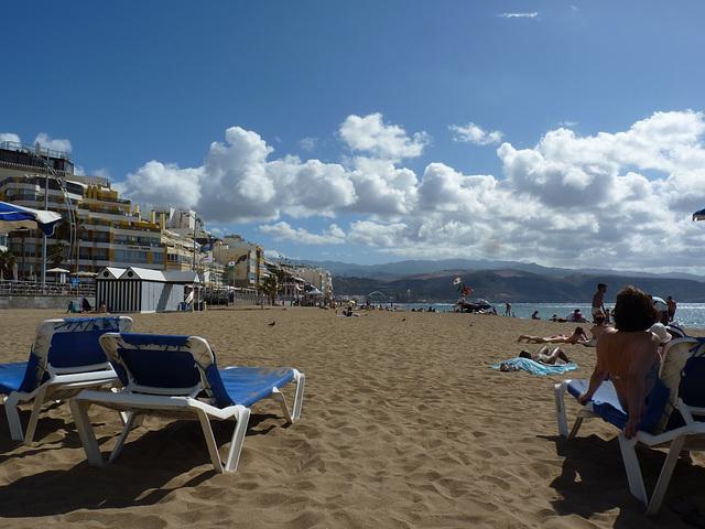 Sol y nubes en las Canteras Gran Canaria