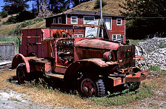 Abandoned fire engine