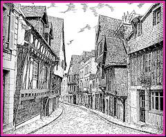 Le Vieux Laval, gravure de Gabriel Jan