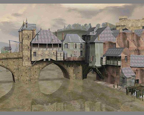 Au temps jadis, le Pont-Vieux sur la Mayenne, à Laval