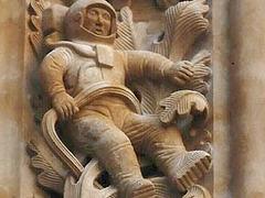 Astronaute en visite à Salamanque, Espagne