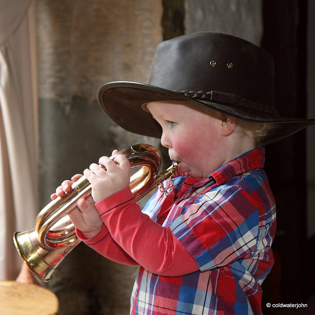 Blow Bugle Blow! Someone believes you need to start young, if you plan to play the bugle!
