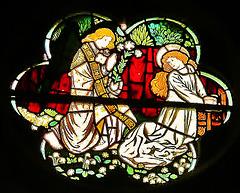 brighton st.michael, sussex c19 morris glass 1862 annunciation