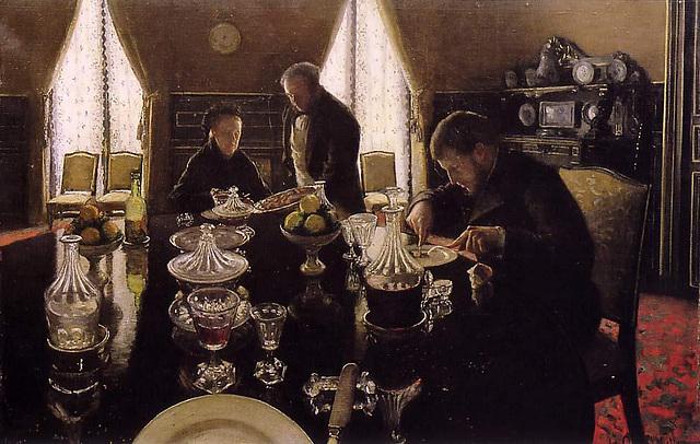 Le Déjeuner, œuvre de Gustave Caillebotte