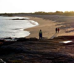 Abendspaziergang am Strand - promenade sur la plage