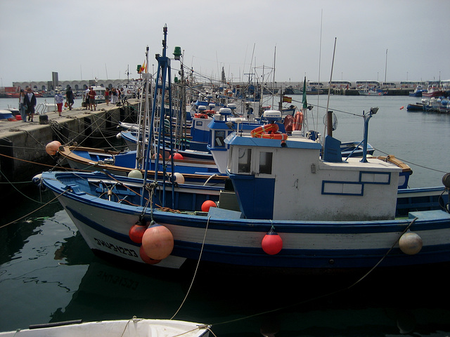 Tarifa, fishing boats harbour