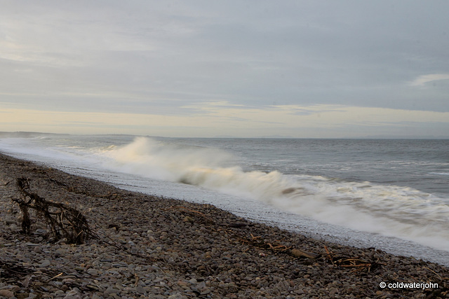 Breakers on the beach at Kingston on Spey