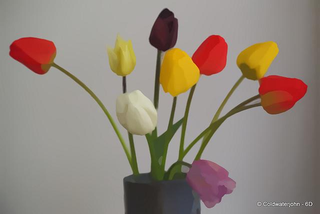 Breakfast - Tulips from the garden