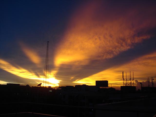 Yesterday,sunset..&Sunshine...