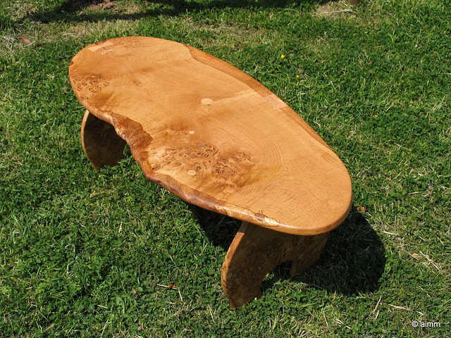 Burred oak table