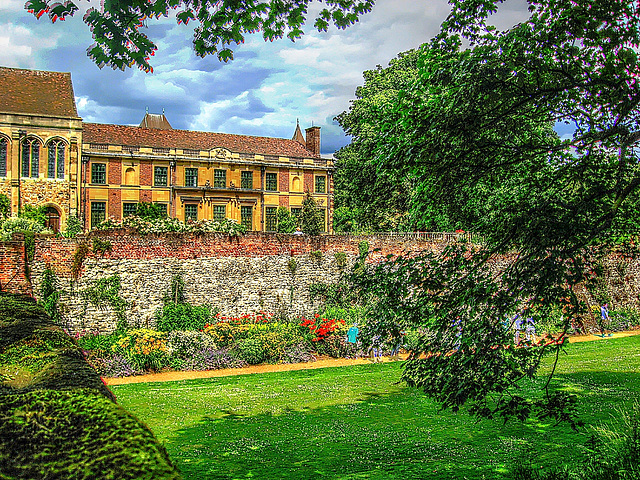 A walled garden at Eltham Palace