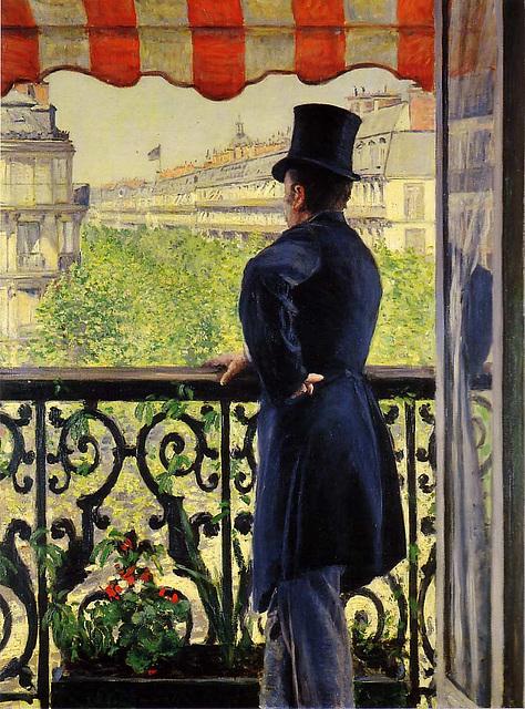 L'homme au balcon, œuvre de Gustave Caillebotte