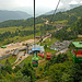 A cable car brings you to the top