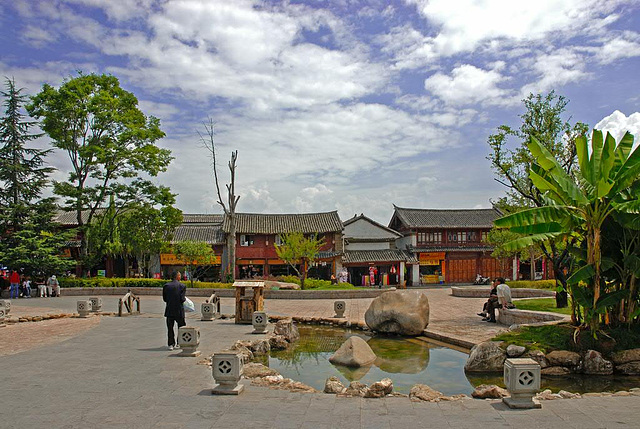 Lijiang's mainplace in old city