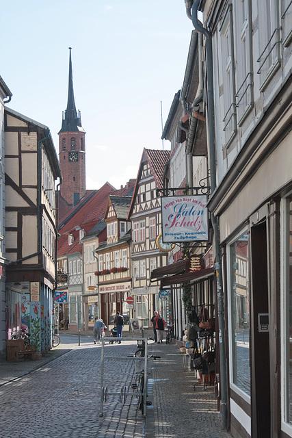 Altstadtstrasse in der Hansestadt Salzwedel