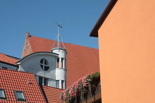 Ausblick in einer sanierten Altstadt