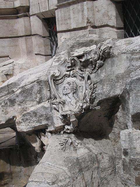 dettaglio di fontana de trevi