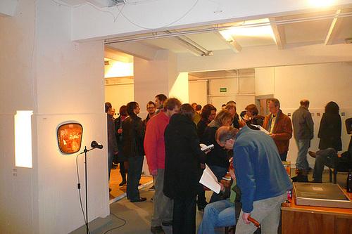 Ausstellung bei raum121 in Sachsenhausen. März 2009