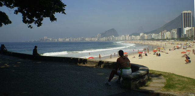 Praia de Copacabana vista do Leme
