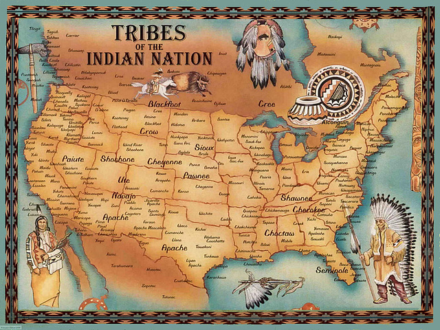 P6233109bc Native Indian Tribes and Nations of North America