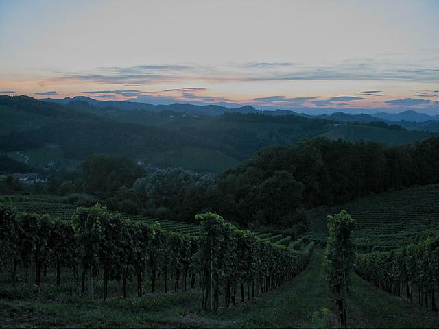 nach Sonnenuntergang - after sundown, in der Steiermark