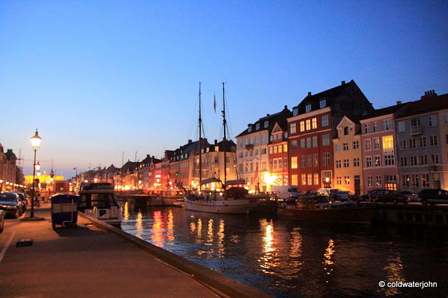 Copenhagen night scene