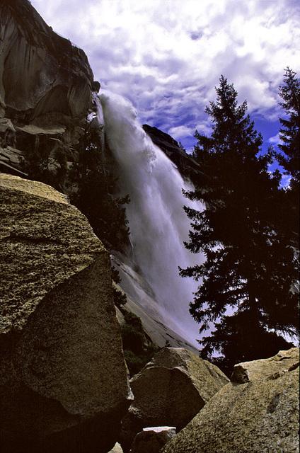 Nevada Falls and Granite Blocks