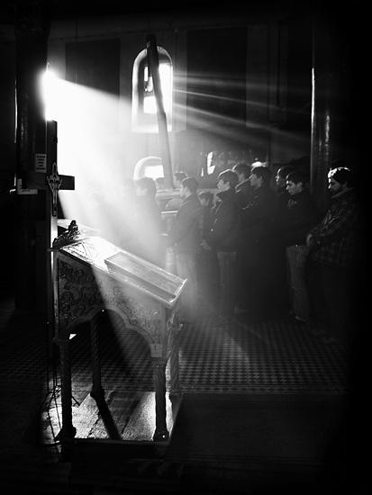 God's-light. Light Streaming into Church. Liturgy.