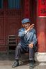 Senior Bai citizen in Xizhou