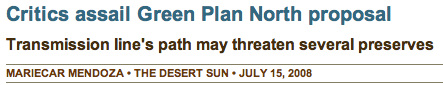 Green Plan North - Desert Sun