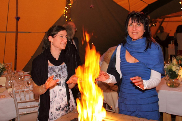 Cold June Evening but warm inside the Tentipi!