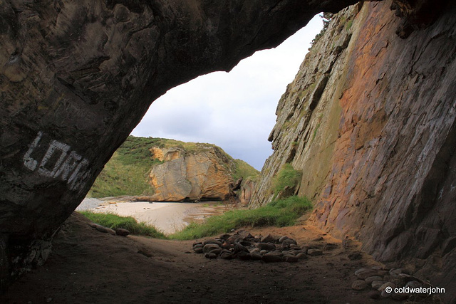 Cave view unchanged since early man lived in these