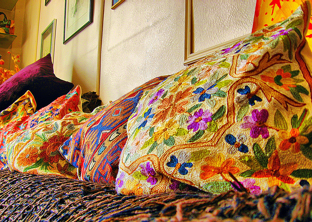Cushions from Kashmir