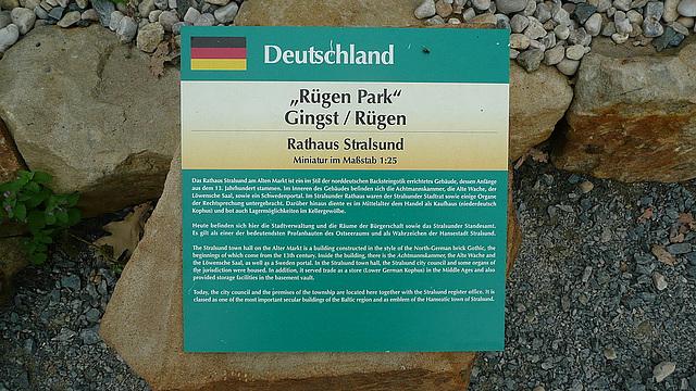 "Leihgabe aus dem ""Rügenpark"" Gingst"